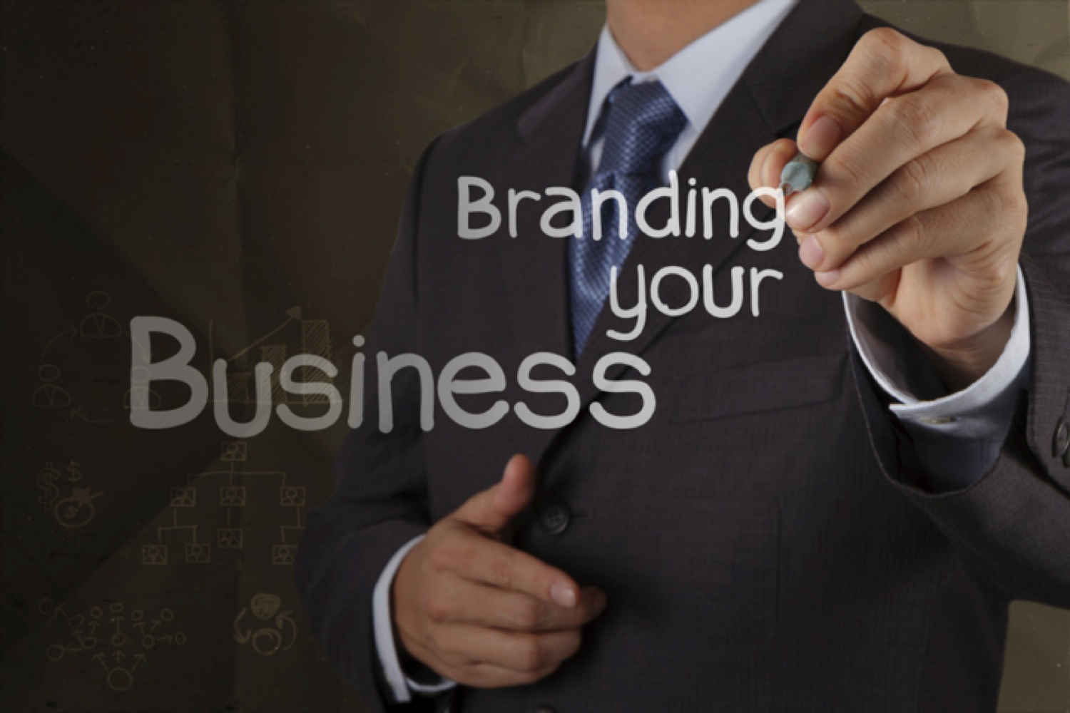 Man Writing Branding Your Business