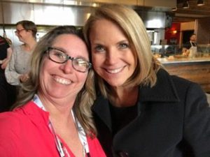 Katie Couric spotted on the High 5 scene